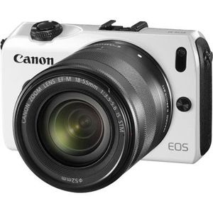 Canon EOS M White Digital Camera with EF-M 18-55mm f/3.5-5.6 STM IS Lens