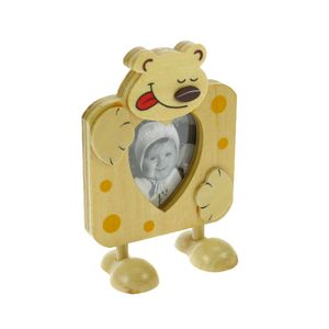 Animal Bear Free Standing Wood 2.75x2.25 Photo Frame