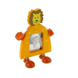 Animal Lion Free Standing Wood 2.75x2.25 Photo Frame