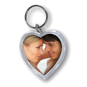 Heart Acrylic Photo Keyring