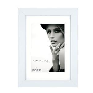 Dorr Bloc White 8x6 inch Wood Photo Frame with 6x4 inch insert