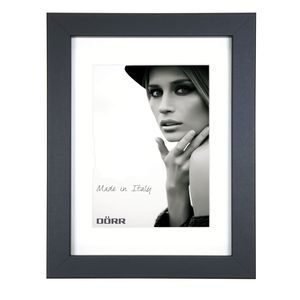 Dorr Bloc Black 9x7 inch Wood Photo Frame with 7x5 inch insert