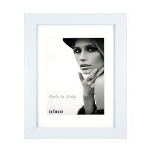 Dorr Bloc White 9x7 inch Wood Photo Frame with 7x5 inch insert