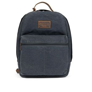 Gillis Trafalgar Blue Wax Canvas Camera Backpack