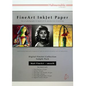 Hahnemuhle Matt Fine Art Smooth Test Pack A4 Printing Paper - 12 Sheets