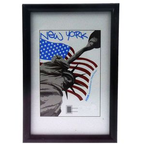 New York Black 16x12 Photo Frame