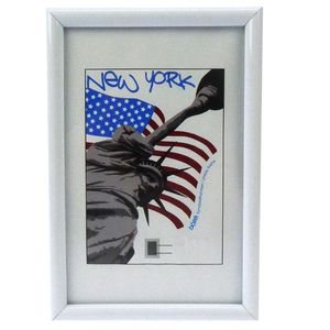New York White 16x12 Photo Frame