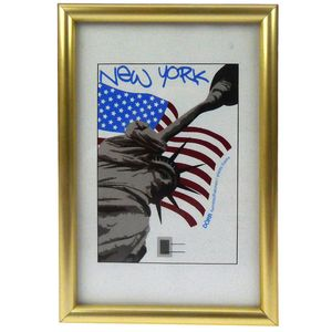 New York Gold A4 Photo Frame