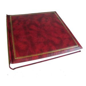 Classic Burgundy Traditional Photo Album - 100 Sides