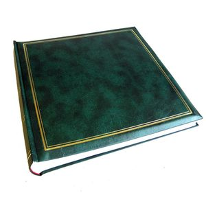 Classic Green Traditional Photo Album - 100 Sides