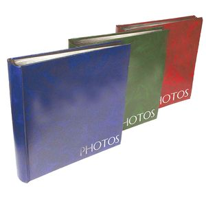 Classic Green Traditional Photo Album - 100 Black Sides