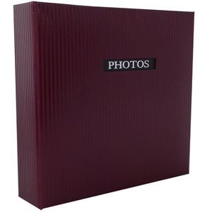 """Elegance Red Traditional Photo Album - 50 Sides Overall Size 11.5x12.5"""""""