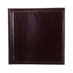 Classic Large Burgundy Traditional Photo Album - 100 Sides