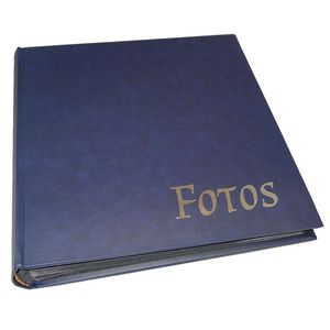 Big Vinyl Blue Traditional Photo Album - 100 Black Sides