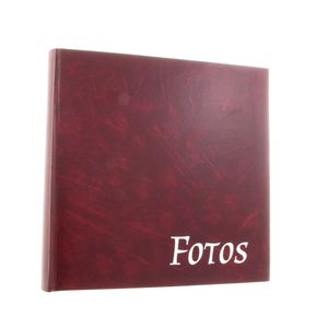 Big Vinyl Burgundy Traditional Photo Album - 100 Black Sides