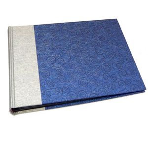 Life Silver and Blue Traditional Photo Book Album - 40 Sides