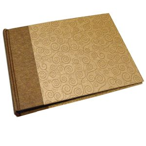 Life Brown and Gold Traditional Photo Book Album - 60 Sides