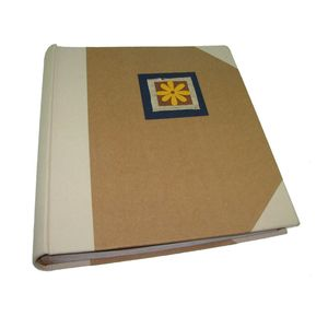 Cotton Blue Flower Traditional Photo Album, 100 Sides