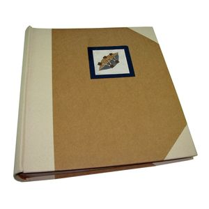 Cotton Blue Leaf Traditional Photo Album, 100 Sides