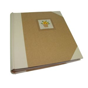 Cotton Flower Pot Traditional Photo Album, 100 Sides