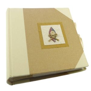 Cotton Knotted Leaf Traditional Photo Album, 100 Sides