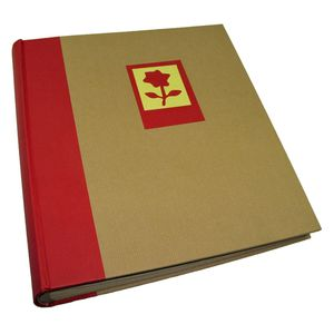 Green Earth Red Flower Traditional Photo Album - 100 Sides