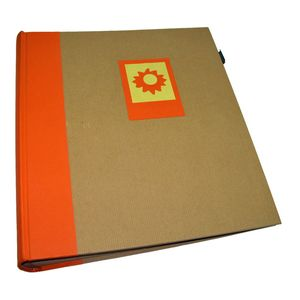 Green Earth Orange Sun Traditional Photo Album - 100 Sides