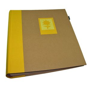 Green Earth Yellow Flower Traditional Photo Album - 100 Sides