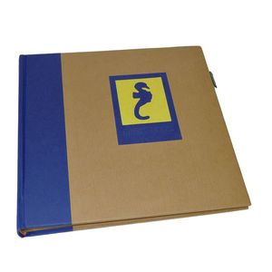 Green Earth Blue Seahorse Traditional Photo Book Album - 40 Sides