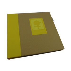 Green Earth Yellow Flower Traditional Photo Book Album - 40 Sides