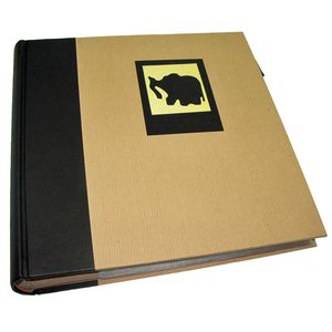 Green Earth Black Elephant 6x4 Slip In Photo Album - 200 Photos