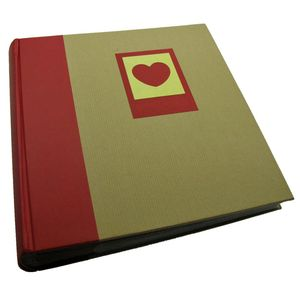 Green Earth Red Heart 6x4 Slip In Photo Album - 200 Photos