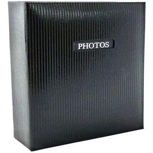 "Elegance Black 6x4 Slip In Photo Album - 200 Photos Overall Size 8.75x9"""