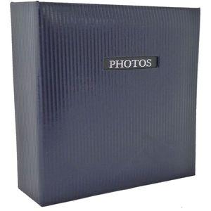 "Elegance Blue 6x4 Slip In Photo Album - 200 Photos Overall Size 8.75x9"""