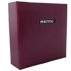 """Elegance Red 6x4 Slip In Photo Album - 200 Photos Overall Size 8.75x9"""""""