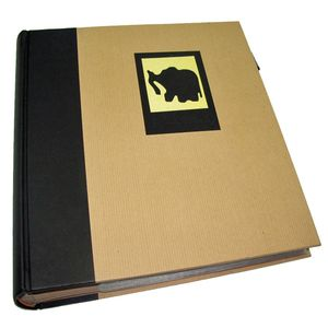 Green Earth Black Elephant 7x5 Slip In Photo Album - 200 Photos