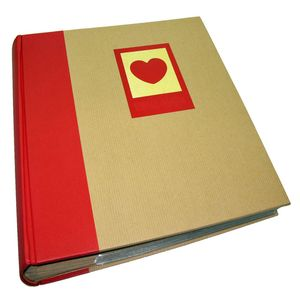 Green Earth Red Heart 7x5 Slip In Photo Album - 200 Photos