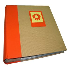 Green Earth Orange Sun 7x5 Slip In Photo Album - 200 Photos
