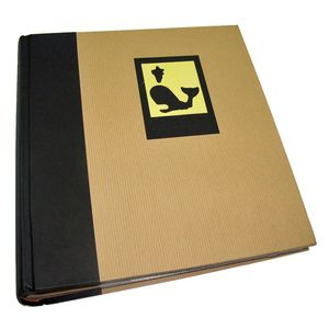 Green Earth Black Whale 7x5 Slip In Photo Album - 200 Photos