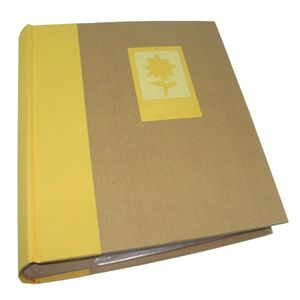 Green Earth Yellow Flower 7x5 Slip In Photo Album - 200 Photos