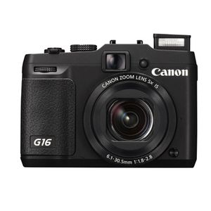Canon PowerShot G16 Black Digital Compact Camera
