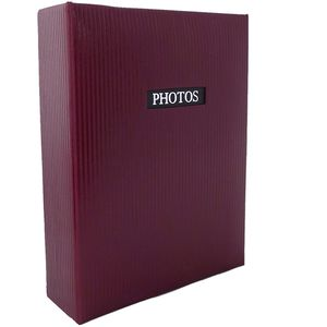 """Elegance Red 6x4 Slip In Photo Album - 300 Photos Overall Size 13x9"""""""