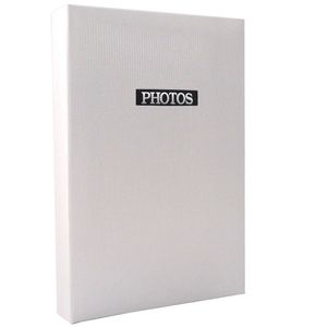 "Elegance White 6x4 Slip In Photo Album - 300 Photos Overall Size 13x9"""