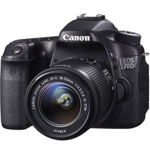 Canon EOS 70D Digital SLR Camera and 18-55mm IS STM Lens