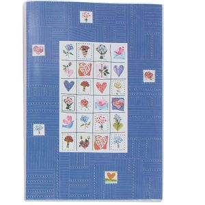 Stamps Blue 6x4 Slip In Photo Album - 24 Photos Overall Size 6.5x4.5""