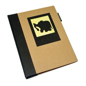Green Earth Black Elephant Mini 6x4 Slip In Photo Album - 36 Photos