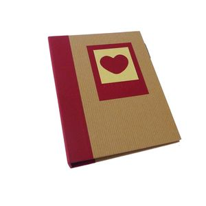 Green Earth Red Heart Mini 6x4 Slip In Photo Album - 36 Photos