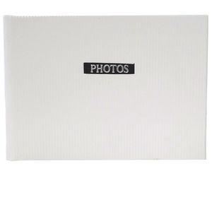 "Elegance White 6x4 Slip In Photo Album - 36 Photos Overall Size 7x4.5"""