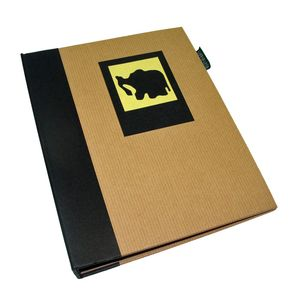 Green Earth Black Elephant Mini 7x5 Slip In Photo Album - 36 Photos
