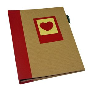 Green Earth Red Heart Mini 7x5 Slip In Photo Album - 36 Photos